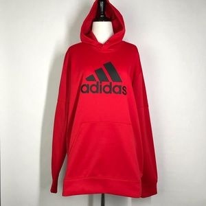 Adidas red Size Large Long Sleeve Men's Climawarm Hoodie